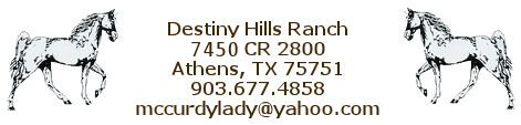 Destiny Hills Ranch 7450 CR 2800, Athens, TX 75751 903-677-4858